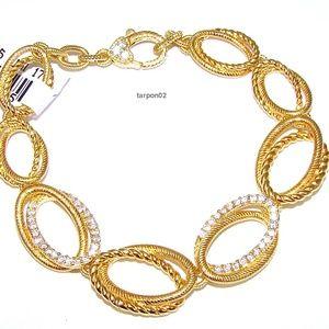 Judith Ripka 14K Clad Diamonique 3/4ct. Bracelet